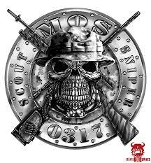 Usmc 0317 Scout Sniper Mos Decal