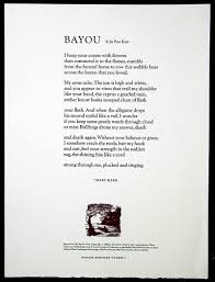 gaylord schanilec fine printer and wood engraver mary karr bayou 1996 11 x 15 inches the paper is rives bfk and the type goudy catalogue a printer s proof copy price 50