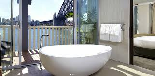 the harbour view balcony suite at sydney s pier one lives up to its name with the