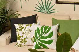 diy accent pillows using nature inspired paint a pillow kits www paintapillow on diy nature inspired wall art with trend spotting tropical decorating