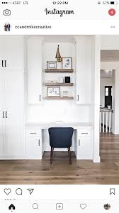 kitchen office nook. Farmhouse Kitchen Desk With Floating Shelves. Shelves Sita Montgomery Interiors (Tech Office Kitchen) Nook K