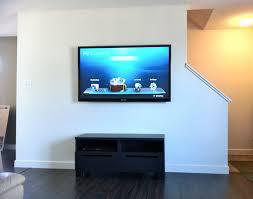 wall mounting a flat screen tv seemed