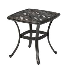 hampton bay belcourt metal square outdoor side table