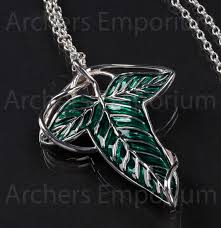 elven leaf brooch prop replica sterling silver code lotr