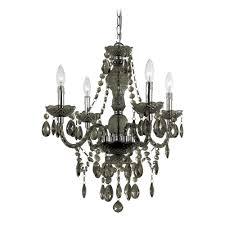 af lighting plug in black crystal chandelier with swag kit 8351 4h