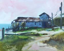 after returning home i painted with the emerald coast plein air painters and found myself experimenting with color temperatures in order to enhance the