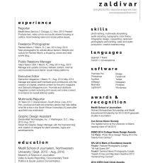 Journalism Resume Template Resume Sample