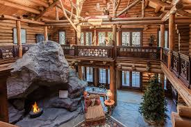 Log Cabin Living Room Inspiration Luxury Log Cabin Living In Upstate New York Mansion Global