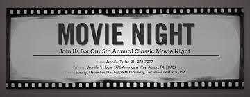 Movie Night Invitation Template Free Movie Night Free Online Invitations