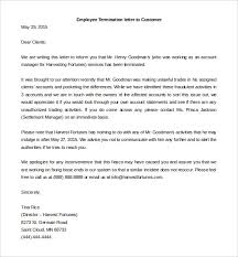 job termination letters 12 termination letter templates free sample example format