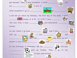 my daily routine worksheet esl printable worksheets my daily  english topics my daily routine essay