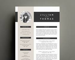 Modern Resume Etsy Modern Resume Template And Cover Letter Template For Word Etsy