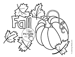 Autumn Coloring Pages With Pumpkin For Kids Seasons Autumn