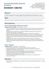 Accounts Receivable Associate Resume Samples Qwikresume