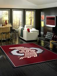 man cave rug state logo rug