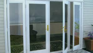 exotic screen door track replacing sliding screen door track rail cover