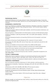 Electrical Engineer Resume Cool Example Electrical Project Engineer Resume Marieclaireindia