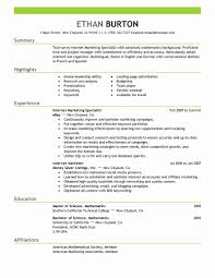 Social Media Resume Template Marketing Resume Templates Elegant Best Line Marketer and social 1