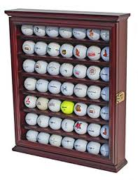Used Golf Ball Vending Machine Amazing Amazon 48 Golf Ball Display Case Cabinet Wall Rack Holder W