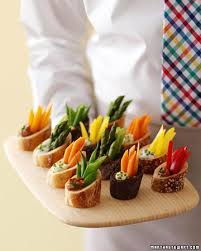 Individual Crudites For Cocktail Parties! Crunchy Vegetables Complete With  Their Own Dip: Buttermilk Peppercorn, Roasted Pepper And Eggplant, ...