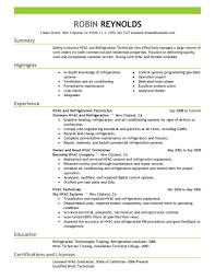 Entry Level Hvac Resume Sample Neat Design Hvac Resume Best And Refrigeration Example Objective How 4