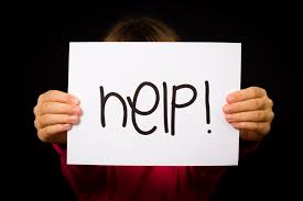 Child Holding Help Sign Bloemfontein Courant