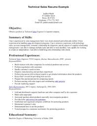 Best Photos Of Sales Resume Examples Technical Sales Resume