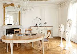 striking traditional dining room layout antique mirror modern chandelier image