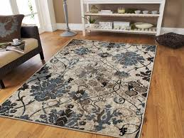 details about luxury contemporary rug 8x11 red flowers area rugs 9x12 grayish blue 5x8 carpet
