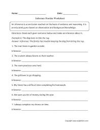 Inferencing-worksheets & Defective Detective Inferencing Worksheet ...