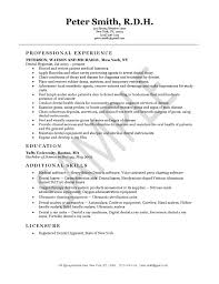 resumes for dental assistant dental hygienist resume example