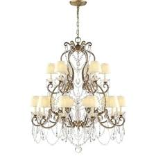 visual comfort s medium chandelier in gilded iron and crystal with silk shades ralph lauren circa chandelier eight light