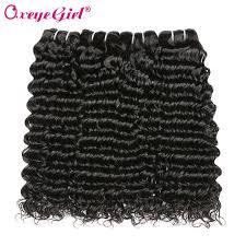 oxeye msian deep wave hair 3 bundle deals human hair bundles for women natural black