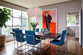 blue dining room table