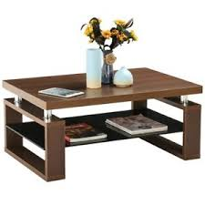 glass living room furniture. Image Is Loading New-Modern-Wood-Top-Glass-Shelf-Coffee-Tea- Glass Living Room Furniture S