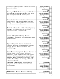 Office Manager Evaluation Form - April.onthemarch.co