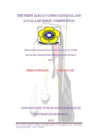 1st winner alsa local law essay competition 2013 by alsa lc unsri 1st winner alsa local law essay competition 2013 by alsa lc unsri issuu