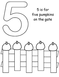 five little pumpkins coloring page sketch coloring page