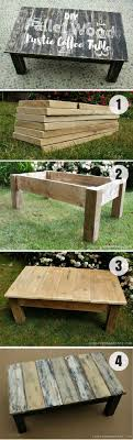 Check how to build this easy DIY Pallet Wood Rustic Coffee Table
