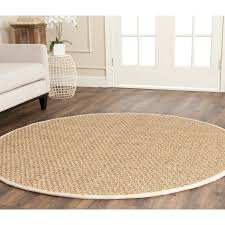 practical round natural fiber rug safavieh beige dark gray 8 ft x area americapadvisers natural fiber round rugs round natural fiber rugs gray round