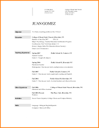 Education Resume Objectives 2 Teaching Objective Examples For A Te