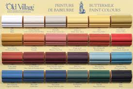 Old Village Paint Color Chart