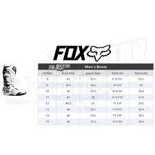 Fox Riding Boots Size Chart 2020 Fox Racing Instinct Boots Flame Red Sixstar Racing
