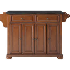 Granite Top Kitchen Island Cart Darby Home Co Pottstown Kitchen Island With Granite Top Reviews