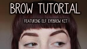 elf eyebrow kit medium vs dark. tutorial using elf eyebrow kit elf medium vs dark