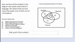 Student Venn Diagram How To Solve Word Problems Using A Venn Diagram Hd Youtube