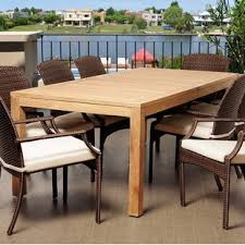teak wood table. Bridgepointe Rectangle Teak Wood Dining Table T