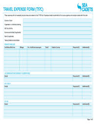 12 Printable Travel Expense Form Templates Fillable Samples In Pdf