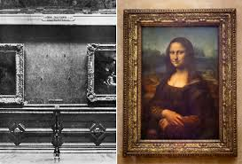 on the left you can see the spot where the picture hung only two years later the most famous painting in the world has resurfaced in italy