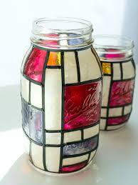 Crafts With Mason Jars Mondrian Mason Jars Mason Jar Crafts Love